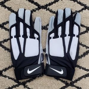 Nike D-Tack Leather Padded Lineman Football Gloves